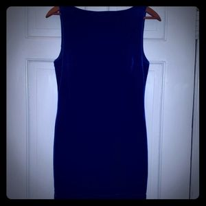 Royal Blue Velvet Sleeveless Mini Dress